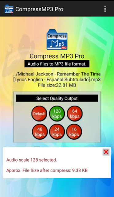 Compress MP3 Pro screenshot 2