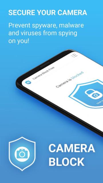Camera Block Free - Anti spyware & Anti malware screenshot 1
