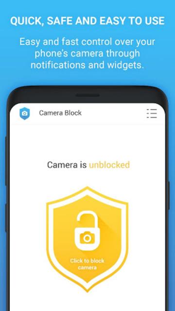 Camera Block Free - Anti spyware & Anti malware screenshot 3