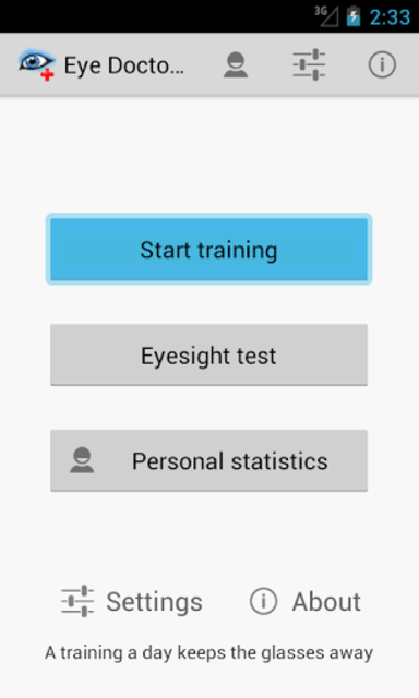 Eye Doctor Trainer - Exercises to Improve eyesight screenshot 1