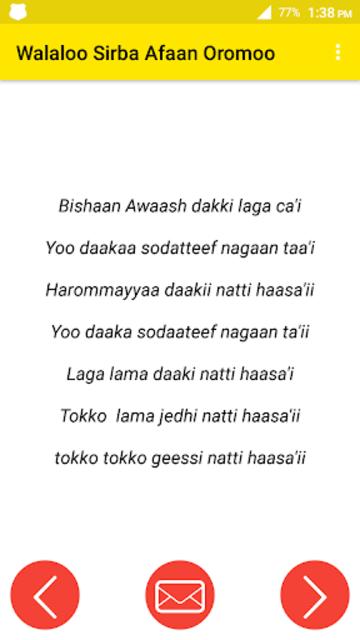 About: Walaloo Sirba Afaan Oromoo (Google Play version) | Walaloo