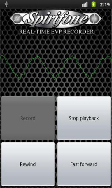 Spirifone REAL-TIME EVP RECORD screenshot 1