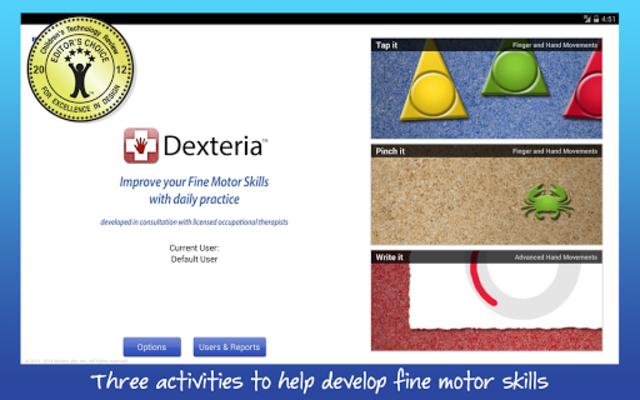 Dexteria Fine Motor/Rehab Aid screenshot 1