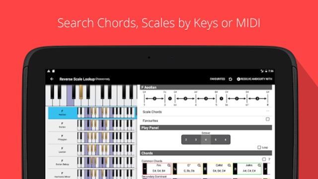 Piano Chord, Scale, Progression Companion screenshot 7