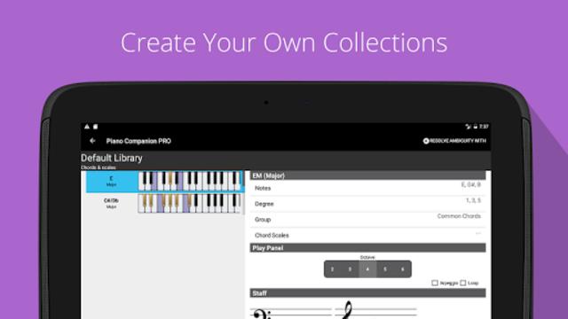 Piano Chord, Scale, Progression Companion screenshot 10