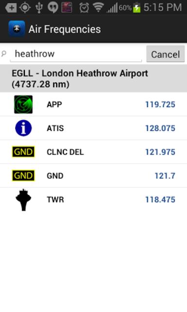 Air Frequencies screenshot 2