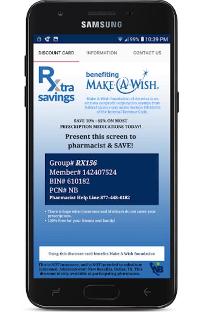 Rx Extra Savings Prescription Discount Card screenshot 2