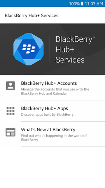 BlackBerry Hub+ Services screenshot 1
