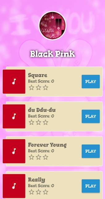 Black Pink Piano Game screenshot 1