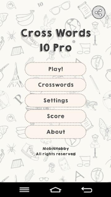 CrossWords 10 Pro screenshot 1