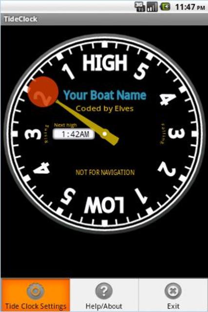 Tide Clock screenshot 1