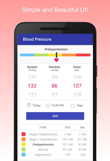 Blood Pressure Diary screenshot 1