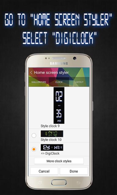 Gear Fit Digital Clock screenshot 3