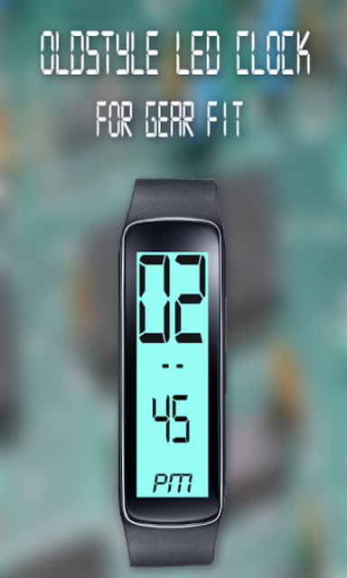 Gear Fit Old Style LED Clock screenshot 1