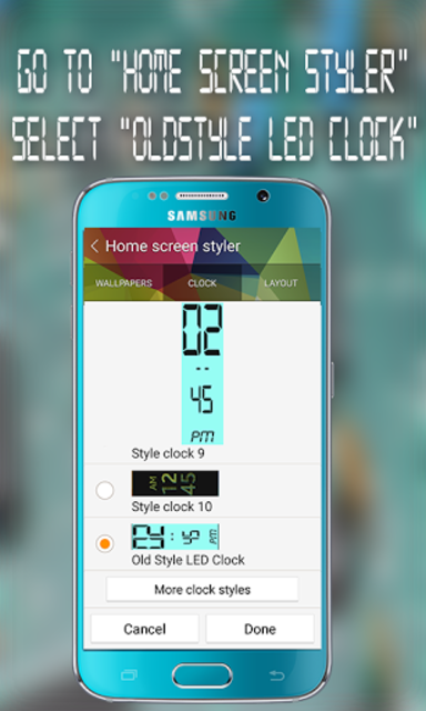 Gear Fit Old Style LED Clock screenshot 2
