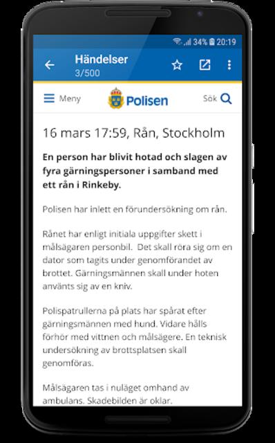 Polisens RSS screenshot 3