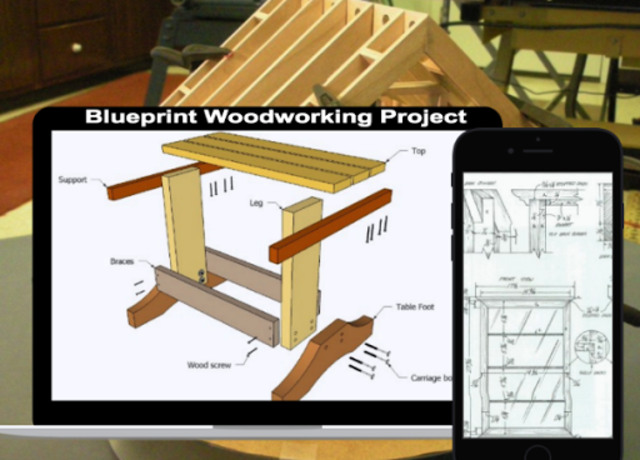 Blueprints Woodworking Project screenshot 1