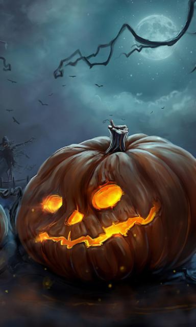 Halloween Live Wallpaper (Backgrounds HD) screenshot 1