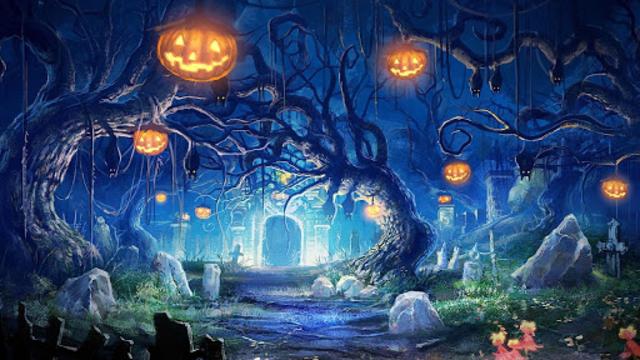 Halloween Live Wallpaper (Backgrounds HD) screenshot 7