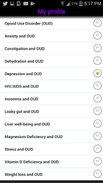 Opioid Use Disorder (OUD) screenshot 2