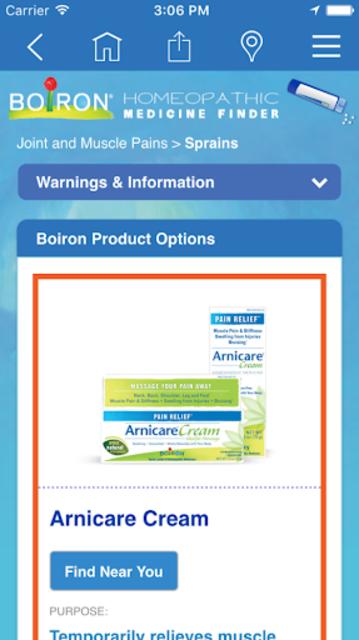 Boiron Medicine Finder screenshot 3