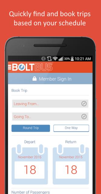 BoltBus screenshot 1