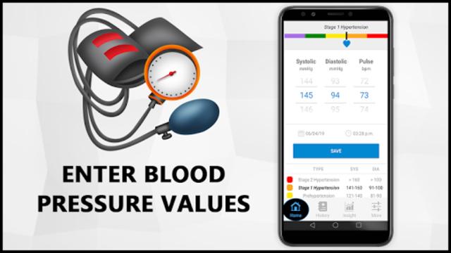 Blood Pressure Check Diary : History Log : BP Info screenshot 2