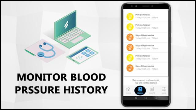 Blood Pressure Check Diary : History Log : BP Info screenshot 4