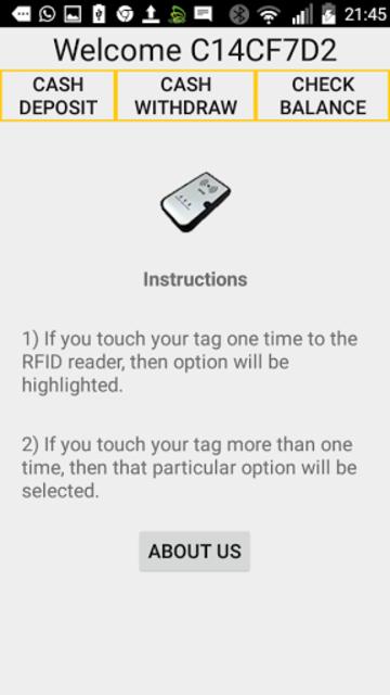 Bonrix Bluetooth NFC/RFID Demo screenshot 2