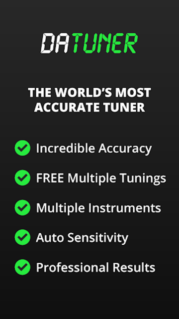 Guitar Tuner, Bass, Violin, Banjo & more | DaTuner screenshot 1