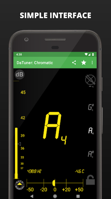 Guitar Tuner, Bass, Violin, Banjo & more | DaTuner screenshot 2