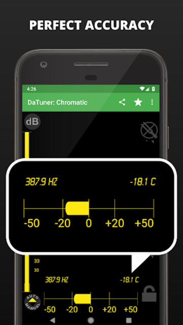 Guitar Tuner, Bass, Violin, Banjo & more | DaTuner screenshot 3