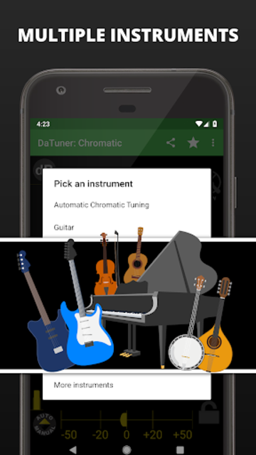Guitar Tuner, Bass, Violin, Banjo & more | DaTuner screenshot 5