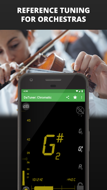 Guitar Tuner, Bass, Violin, Banjo & more | DaTuner screenshot 7