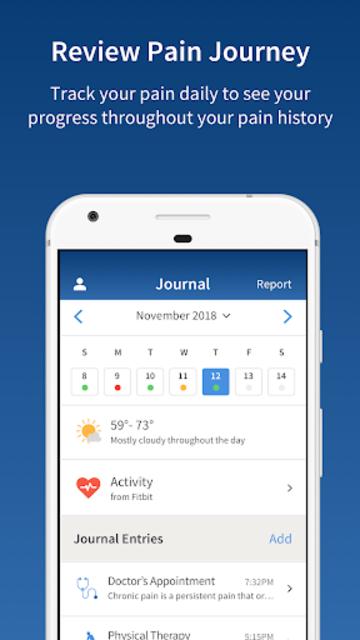 PainScale - Free Chronic Pain Tracker Diary screenshot 5