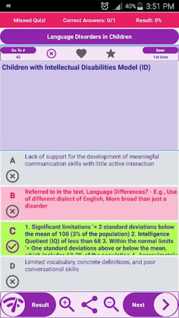 Speech-Language Pathology SLP Exam Review screenshot 6