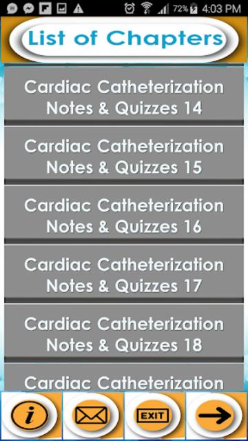 Cardiac Catheterization Test Bank- Notes & Quiz screenshot 1