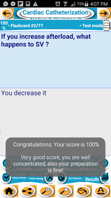 Cardiac Catheterization Test Bank- Notes & Quiz screenshot 5