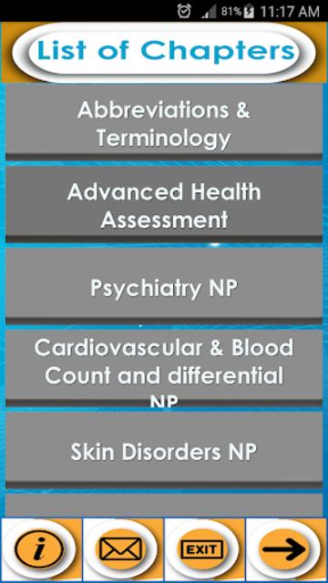 Nurse Practitioner Exam review- Concepts & Quizzes screenshot 2