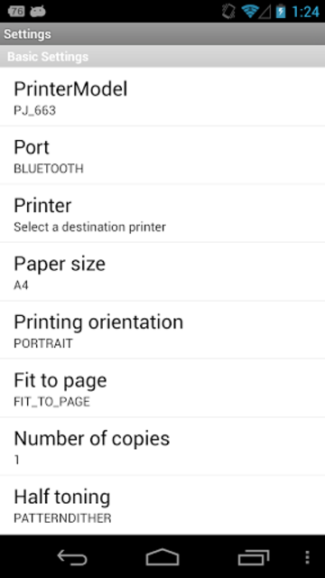 Brother Print SDK Demo screenshot 1