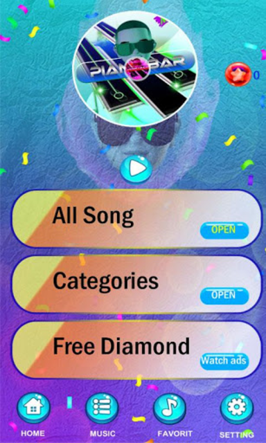 Daddy Yankee - Easy Piano Game Tiles screenshot 1