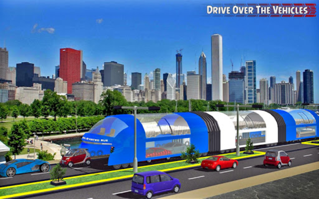 China elevated bus drive screenshot 6