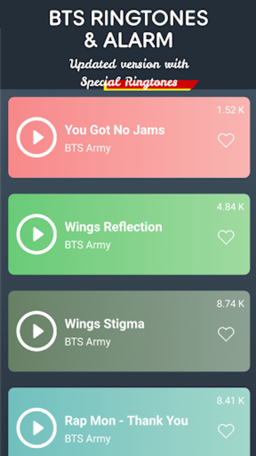 BTS Ringtones Hot For Army screenshot 1