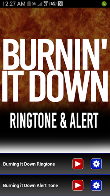 Burnin It Down Ringtone screenshot 1