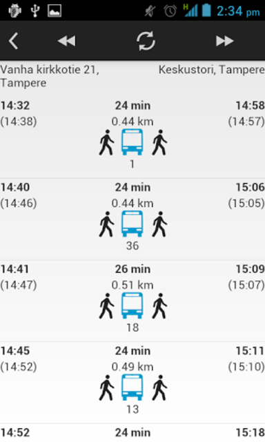 Bussit Tampere Reittiopas Pro screenshot 2