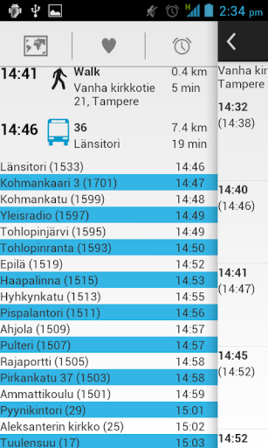 Bussit Tampere Reittiopas Pro screenshot 3