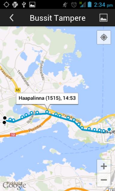 Bussit Tampere Reittiopas Pro screenshot 5