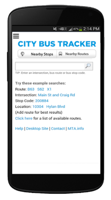 New York Bus Tracker™ App screenshot 1