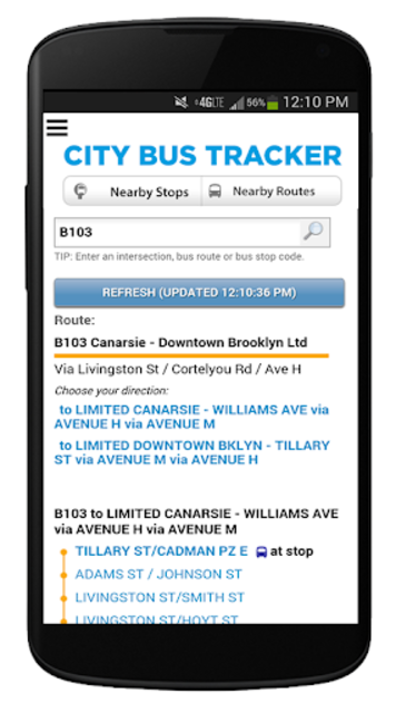 New York Bus Tracker™ App screenshot 3