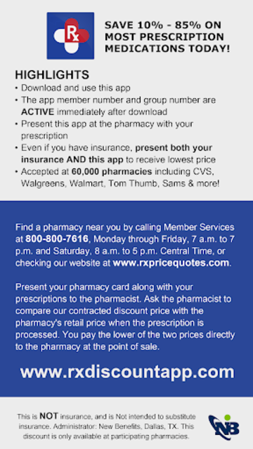 Rx Prescription Drug Discounts Card screenshot 2
